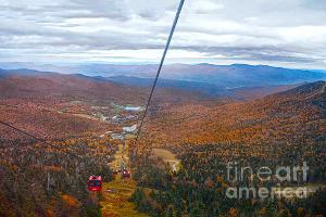 The view from a gondola at Stowe Mountain Resort in Vermont.