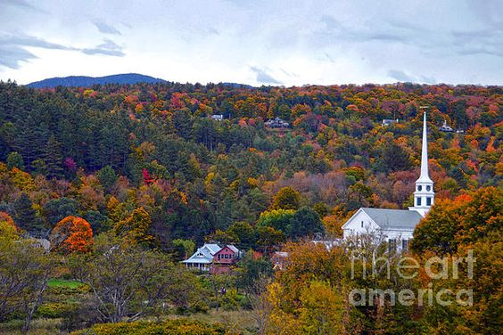 Stowe, Vermont, in Autumn.